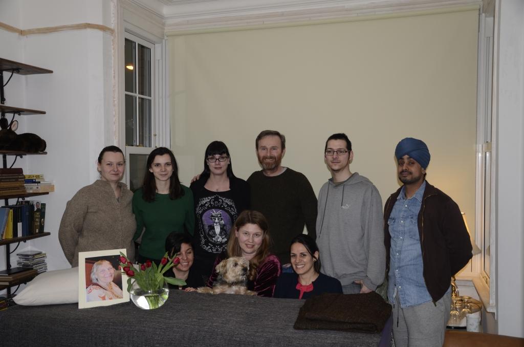 The gathering at Olga's